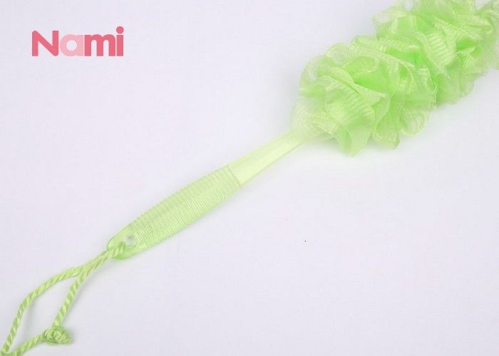 Exfoliating Long Handled Bath Brush Sponge Recyclable For Cleaning / Massage