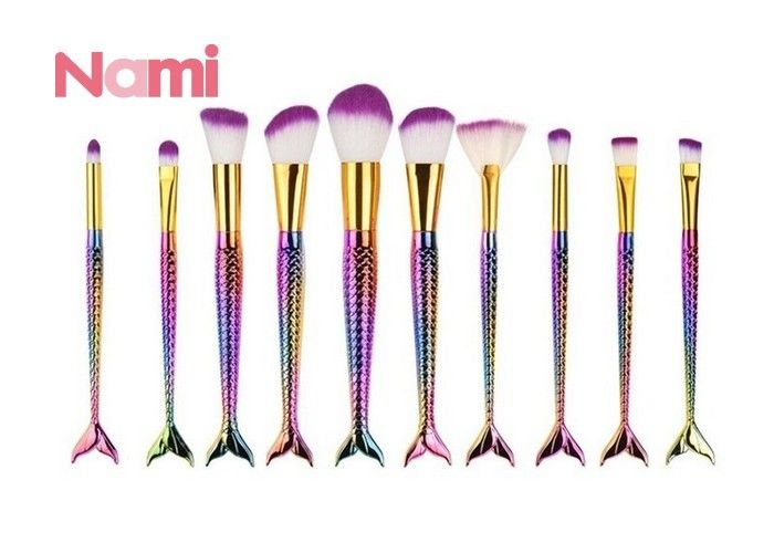 Mini High Grade Face Makeup Brushes Plastic Handle Nylon Hair Cosmetic Tools